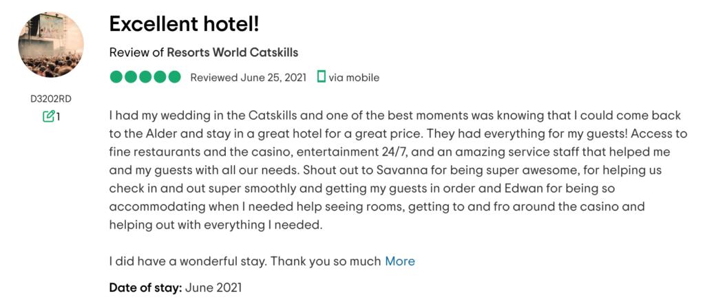 customer review catskills